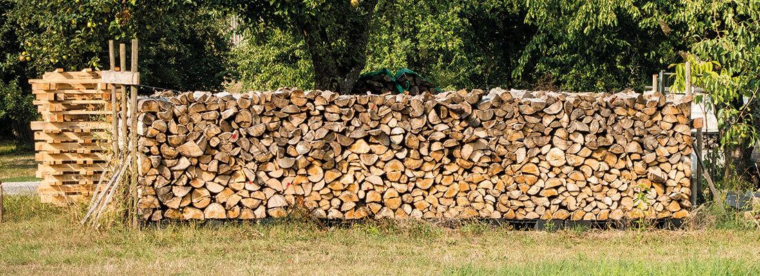 Lagerung Brennholz